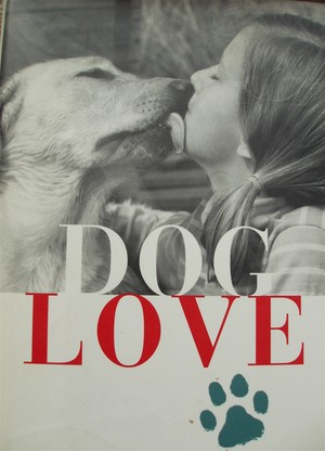 The book jacket of Marjorie Garber's Dog Love